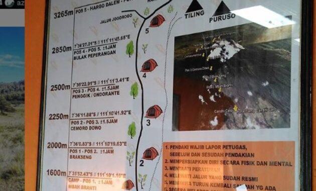 Jalur Pendakian Gunung Lawu Via Candi Cetho Gunung Lawu